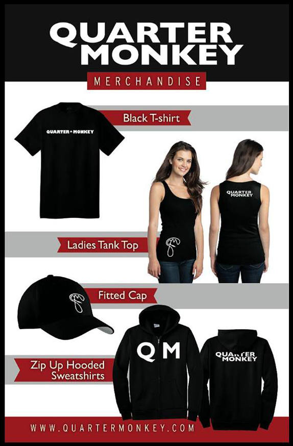 Quarter Monkey Band Merchandise